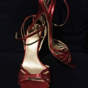 Dior Shoes - Christian Dior Glam Eve Red Strappy Heel